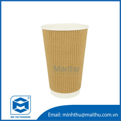 Ripple Wall Cup 16 OZ (90x60x135) mm
