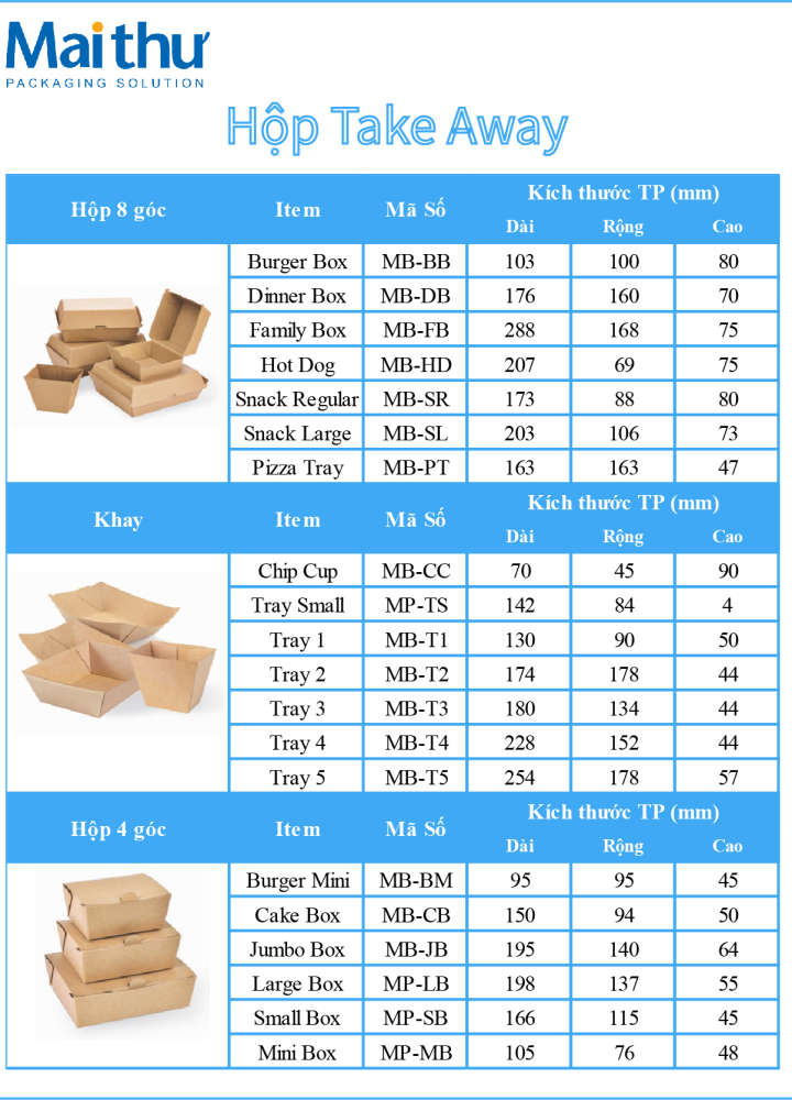 Hộp Take Away Box